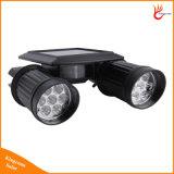 Double tête 14LED spotlight solaire sans fil avec capteur de mouvement IRP