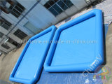Cuadrada inflable azul piscina, grande piscina inflable