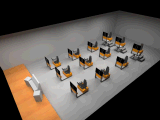 構築機械装置共同作業シリーズトレーニングのシミュレーター