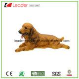 Precioso perro Polyresin decorativos Estatua de la decoración del hogar y jardín ornamentos