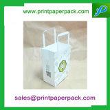 Sacs de transport de papier Kraft Sos Parti déjeuner à emporter l'alimentation papier de cadeau Sac avec poignées plates