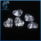 Hot Sale Low Price 5X5mm Heart Shape resistente à calor CZ Stoens Cubic Zirconia
