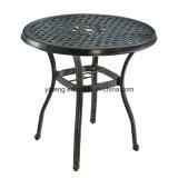 새로운 디자인은 알루미늄 옥외 가구 주조 알루미늄 메시를 아래로 두드린다 커피용 탁자를 양극 처리했다