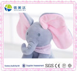 Giocattolo musicale divertente della peluche del bambino dell'elefante