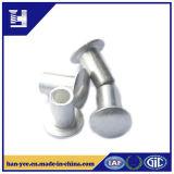Rivet semi-tubulaire en acier de nickel/zinc