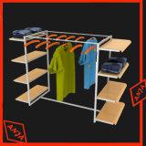Vêtements portables en bois Rail Shop Stands d'affichage pour vêtements suspendus