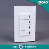 [أمريكن] أسلوب [ب517] 4 مجموعة 1 طريق كهربائيّة جدار مفتاح