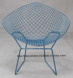 현대식 식당 식당 블루 와이어 다이아몬드 의자 내려 노크