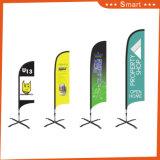 изготовленный на заказ флаг пера ножа 3PCS для рекламировать напольных и случая