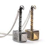 "Thor ""Loki's Hammer"" Alloy ID Necklace Keychain Jóias Metal Thor Hammer Pendant Filme Chaveiro Jóias"