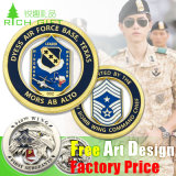 Custom Metal Souvenir / Plastic / Military / Trolley / Token / Police / Double / 24k 3D Gold / Silver / Challenge Coin Maker Não Mínimo