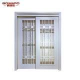 Weißer Lack-hölzerne Rahmen-schiebendes Glas-Tür (GSP3-031)