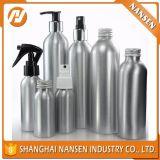 botella cosmética de aluminio vacía de la venta caliente 150ml con la bomba o casquillo o rociador con petróleo esencial del anillo del pisón