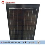 Panneau solaire mono de longue taille en verre noire