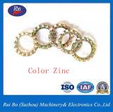 DIN6798A 외부에 의하여 톱니 모양으로 하는 자물쇠 세탁기 편평한 세탁기 금속 세탁기