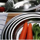 Поднос еды обеда нержавеющей стали OEM ODM таможни круглый