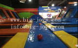 Parque cubierta con Trampolín Juego de baloncesto (014)