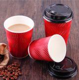Устранимый бумажный стаканчик кофейной чашки 150ml стены потрошителя