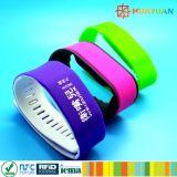 Wristband programable clásico impermeable del silicón HUAYUAN MIFARE EV1 RFID