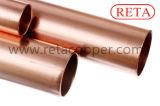 Tubo de cobre recto del circuito de agua