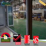 Portello Bifold esterno di UPVC/PVC con lo schermo ritrattabile