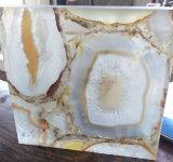 Pierre semi précieuse d'agate de blanc de qualité pour décoratif