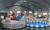 0.9mm PVC防水シート巨大で膨脹可能な水スライド(HL-006)