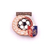 Botón de fútbol de Esmalte Duro Estaño Pin como papel de impresión Promoción Venta caliente