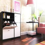 Gabinete Home de venda quente da sapata da melamina da mobília de Hosehold da sala de visitas (UL-WR003)