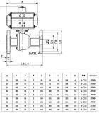 Válvula de esfera flangeada atuada pneumática de Q641f-16p/R 2PC