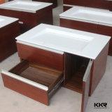 Bacia de superfície contínua do banheiro do gabinete da resina de pedra artificial
