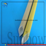 Ambra tessuta fibra di vetro rivestita resistente del poliuretano Sleeving10.0mm di parte consumata