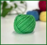 Filato tinto fibra 100% della iuta (verde)