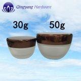 装飾的な瓶のためのアルミニウム帽子が付いている30ml50ml100ml表面クリームの瓶