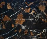 床のためのパキスタン黒い金によって磨かれるPortoroの大理石かステップまたはカウンタートップまたは虚栄心の上または浴室のタイル
