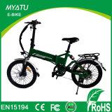 كهربائيّة يطوي درّاجة لأنّ بالغ