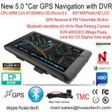 2016 5.0inch 인조 인간 6.0 쿼드 코어. 차 GPS 항법, 후방 주차 사진기AV 에서 FHD1080p 차 DVR를 가진 1.5GHz 정제 PCS; 5.0mega 차 GPS 항해자