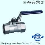 Soupape manuelle d'acier du carbone d'amorçage à haute pression avec le traitement