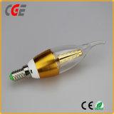 La luz de lámparas LED 4W E14 /27 C35/C37 de la luz de velas LED lámpara de araña para