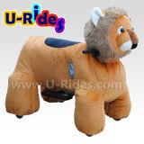 animal de passeio elétrico do leão