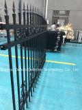 Neue Art-dekorativer schwarzes Puder-überzogener Garten-Zaun