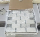 大理石のモザイク・タイルの長方形の東洋の白い大理石のモザイク