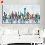 Olieverfschilderij van Citycape van de Kunst van de Muur van de architectuur het Abstracte