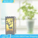 La noche de la lámpara de vector enciende el LED dentro de las luces amarillas de la noche de la cortina 3W para la luz del vector del dormitorio
