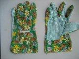 Gant de jardin en coton avec un seul côté PVC Dots-2602