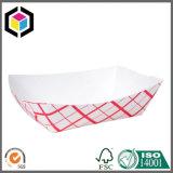 Cortar os orifícios do punho Bandeja de presente de papelão para comida
