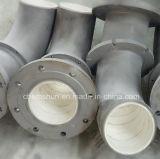 フランジが付いている研摩の陶磁器の並べられた入口管の管