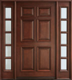 Dessins de porte en bois massif de style traditionnel