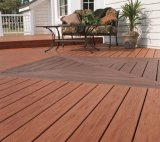 Grande taille WPC un revêtement de sol Composite Decking avec beaucoup de couleur pour Outdoor
