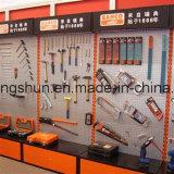 Prateleira de metal com placa de perfuração para ferramentas
